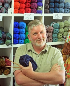 Me, at the Holland Road Yarn Store (Photo by Tash Barneveld)